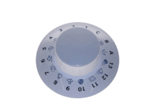 BOUTON TIMER WHITE PW ARM PRNE02